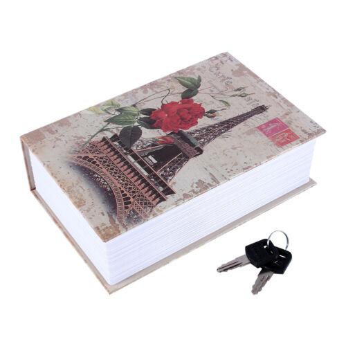 Dictionary Book Secret Safe Security Box Money Cash Jewelry Lock Box  Eif