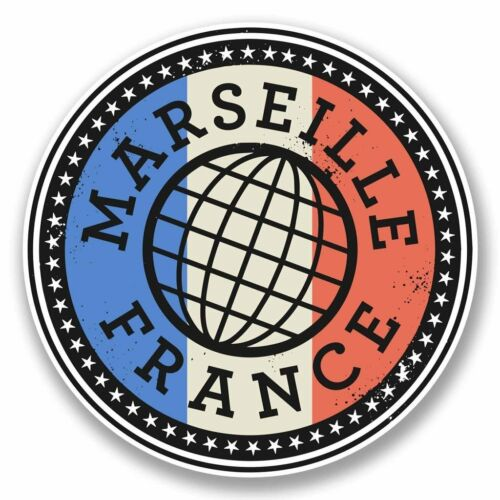 2 x Marseille France Vinyl Sticker Car Travel Luggage #9851
