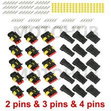 15 Sets 234 Pin Way Weatherpack Electrical Connector Plug Motorcycle Bike Boat