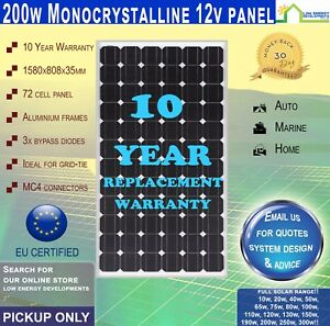 New 200 watt 12 volt solar panel mono pick up only great savings image is loading new 200 watt 12 volt solar panel mono solutioingenieria Image collections