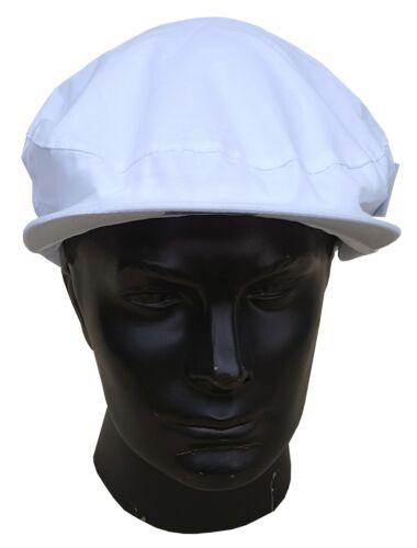 BOTRA Mens Peak Cap Bowls Showerproof Teflon Treated Cotton White One Size