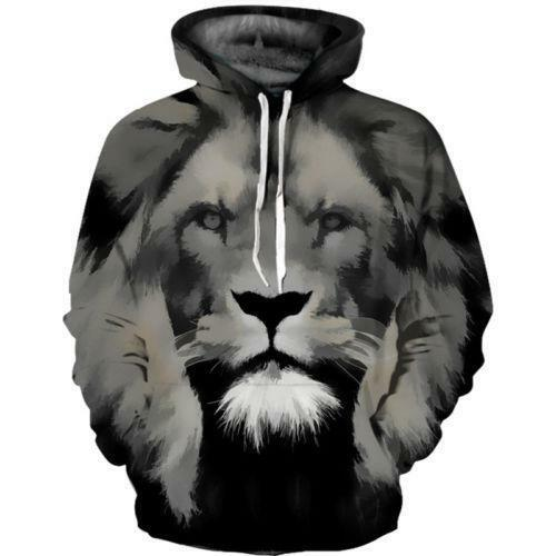 Women Mens Skull Galaxy Wolf Lion 3D Graphic Sweater Hoodie Hoody Pullover Coat