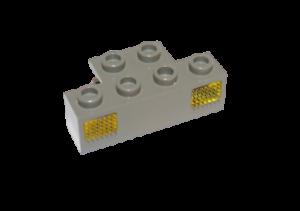 Lego 9V Eisenbahn TRAIN Licht Prisma für Lampe DUNKELGRAU GELB LIGHT