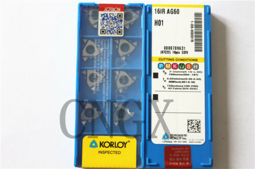 10pcs 16IR AG60 H01 CNC Threading Carbide Insert for Aluminum