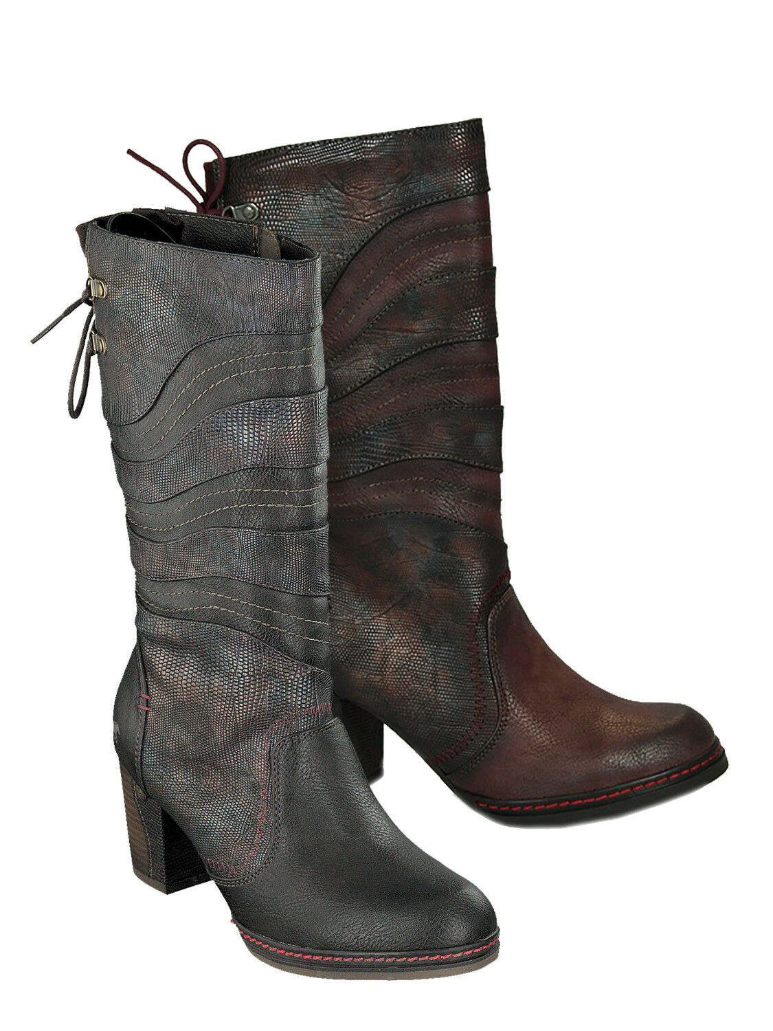 Mustang 1287-514 zapatos mujer Ankle botas