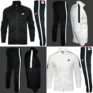 available get new best service Details about Nike TRIBUTE Full Polyester Tracksuit Zip Jacket Jogging  Bottms Joggers