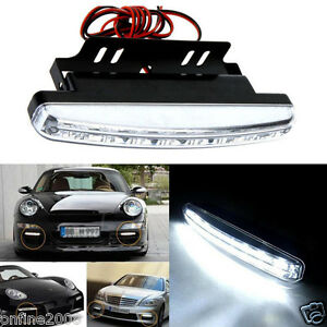 New 8 LED Daytime Driving Running Light DRL Car Fog Lamp Waterproof DC 12V
