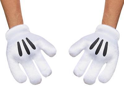 Adulto Disney Mickey Mouse Guanti Mani Accessorio Costume Dg85582ad