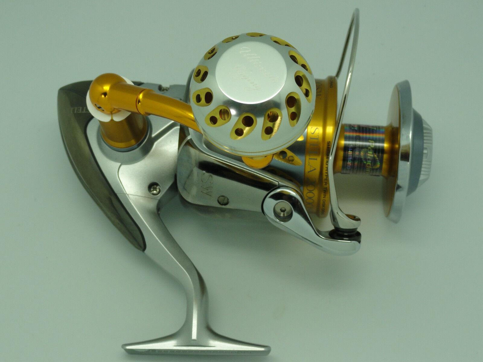 U.J PRK 45mm knob for Shimano Stella Saragosa 10k-25k reel W 8mm B.B. kits SV-GD