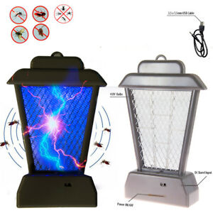 New-Insect-Mosquito-Bug-Zapper-UV-Light-Fly-Pest-Bug-Trap-Lamp-Killer-Grey