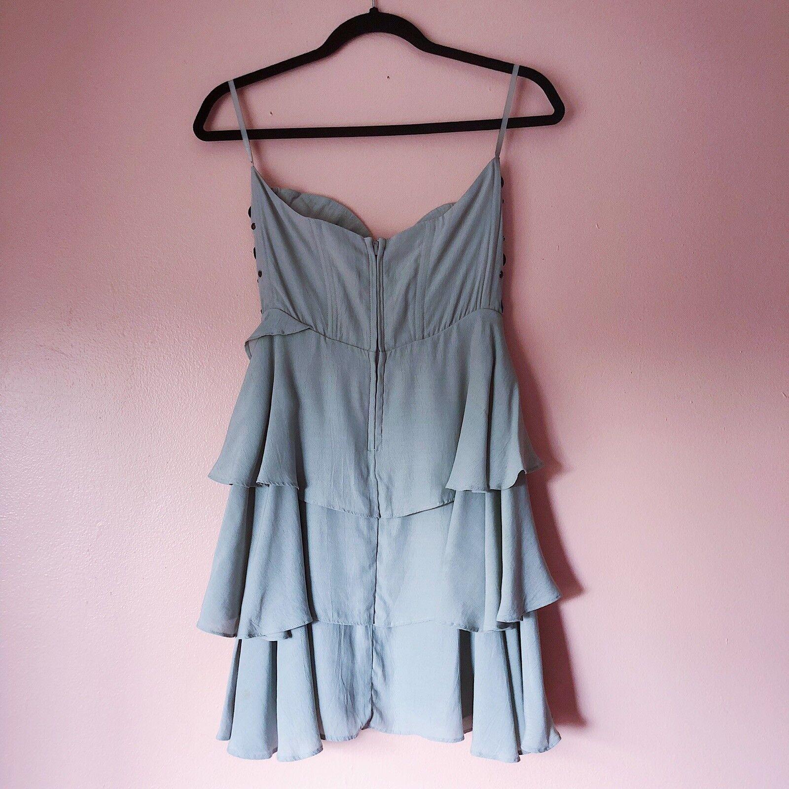 Avec Girls Girls Girls Crystal Bustier Tiered Mini Dress 7a1394