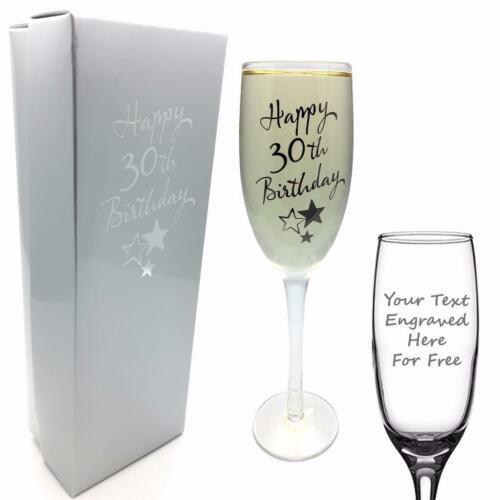 Personalised Engraved 30th Birthday Champagne Flute Prosecco Glass Poison g31830-p
