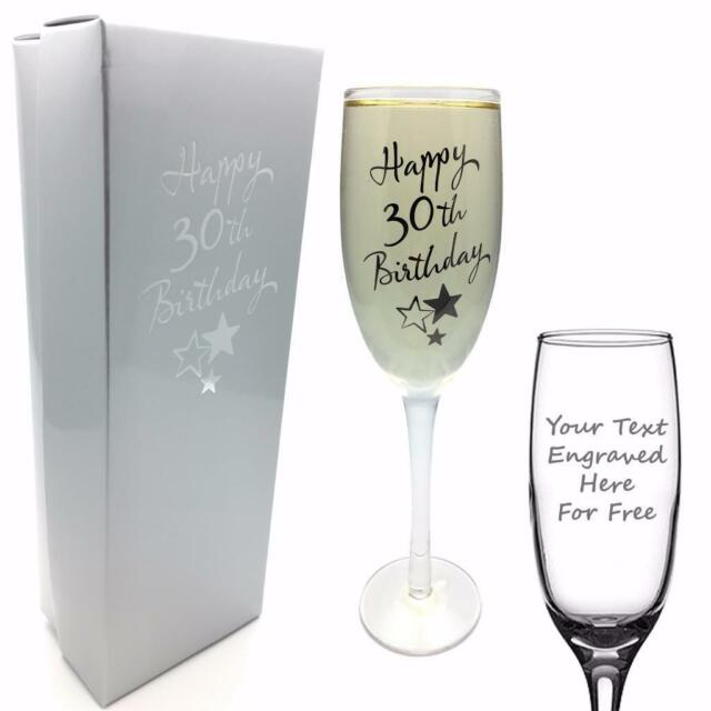 30b840975bd Personalised Engraved 30th Birthday Champagne Flute Prosecco Glass Gift  G31830-p for sale online | eBay