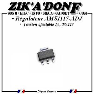 Lot-de-5-regulateurs-ajustables-AMS1117-ADJ-1A-TO223-Expedie-depuis-la-France