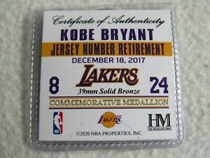 Details about NBA 2K21 Kobe Bryant Jersey Number Retirement Commemorative Medallion Coin