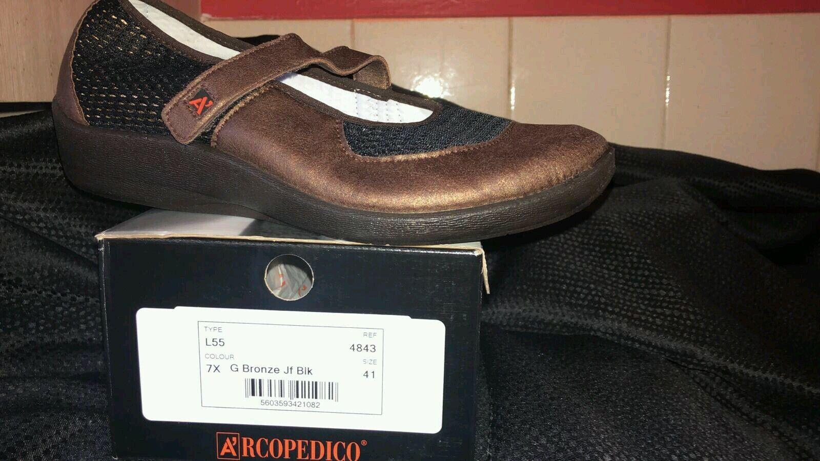Arcopedico Comfort Orthopaedic shoes - L55 model in bronze - Various sizes - NEW