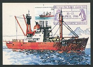 Brillant Aat Australia Antarctic Mk Navires Pingouin Maximum Carte Maximum Card Mc Cm D4823