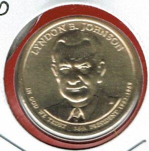 2015 P /& D Lyndon B 4 coins! Johnson Presidential Dollars positions A /& B