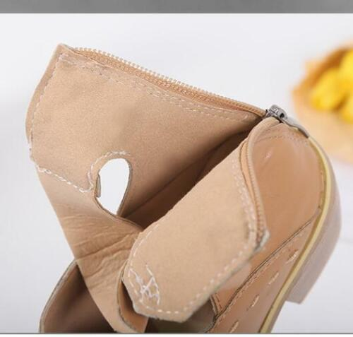 womens Mid Block Heel Zipper Ankle Smart Boots Ladies Casual Pointed Comfy Shoes