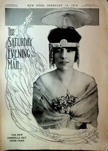 Saturday Evening Mail February 14 1914 Suffragists Panama Canal Hunting in India