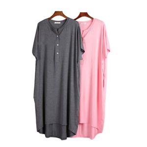 Pregnant-Women-Sleepwear-Maternity-Nursing-Pajamas-Breastfeeding-Soft-Nightdress