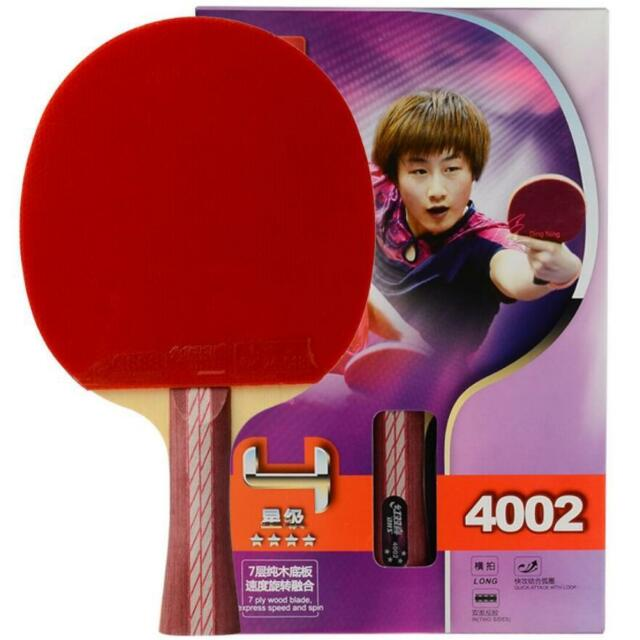 Racket Paddle Ping Pong DHS 4 Star Table Tennis Bat Long Handle 4002 ... 80ec1bc8ac3ac