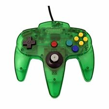 Mars Devices Transparent Green Replacement Controller for Nintendo 64