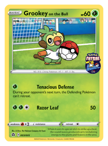 Pokemon Tcg Grookey On The Ball Futsal Promo Card England Exclusive Sealed 2 Ebay Trainer goes to battle nessa for a badge with his new grookey. usd