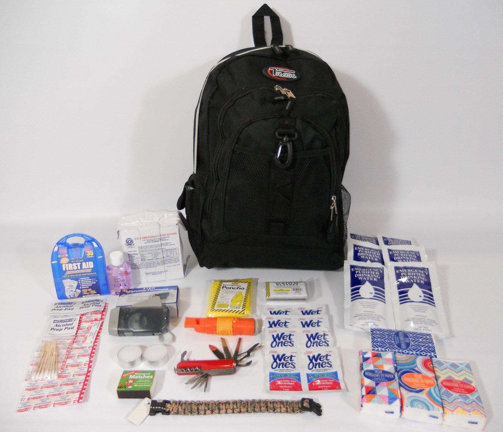 72 Hour Emergency Preparedness Kit Disaster Survival Earth Quake Zombie2  BOB  fitness retailer