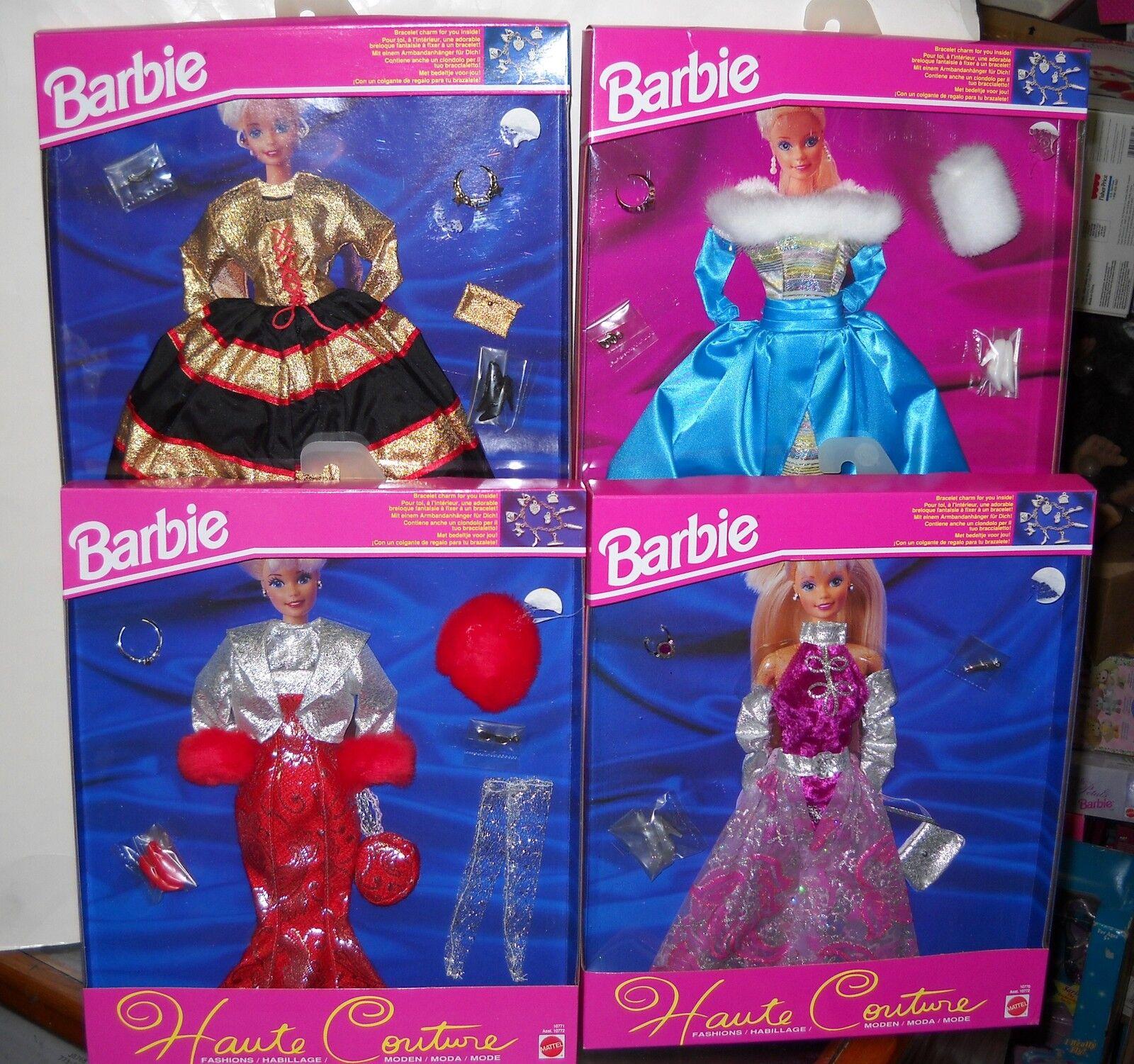 Nunca quitado de la Caja Juego De 4 extranjeros Mattel Barbie Moda ropa de alta costura