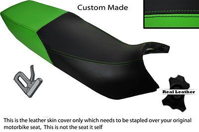 BLACK /& RED CUSTOM FITS KAWASAKI GPX 750 87-89 DUAL LEATHER SEAT COVER