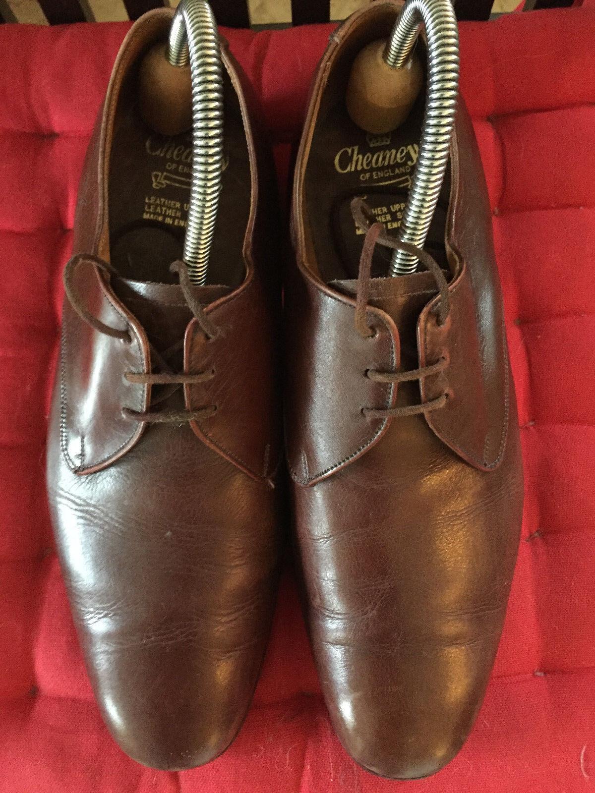 marchi di stilisti economici Scarpe Scarpe Scarpe Vintage Marrone CHEANEY-Regno Unito 7.5 F  controlla il più economico