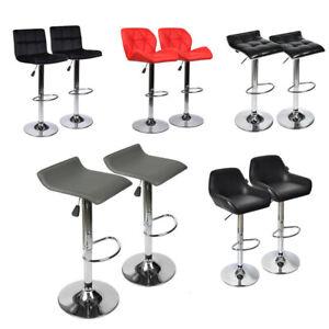 Set-of-2-Bar-Stools-Leather-Velvet-Adjustable-Swivel-Hydraulic-Counter-Pub-Chair