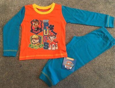 Boys Paw Patrol Pyjamas PJs Orange Long Nightwear 18 24 2 3 4 Years Rubble Chase