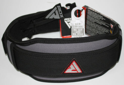 8d Gewichthebergürtel Belts Grau//Schwarz//Rot S 90 cm Trainingsgürtel