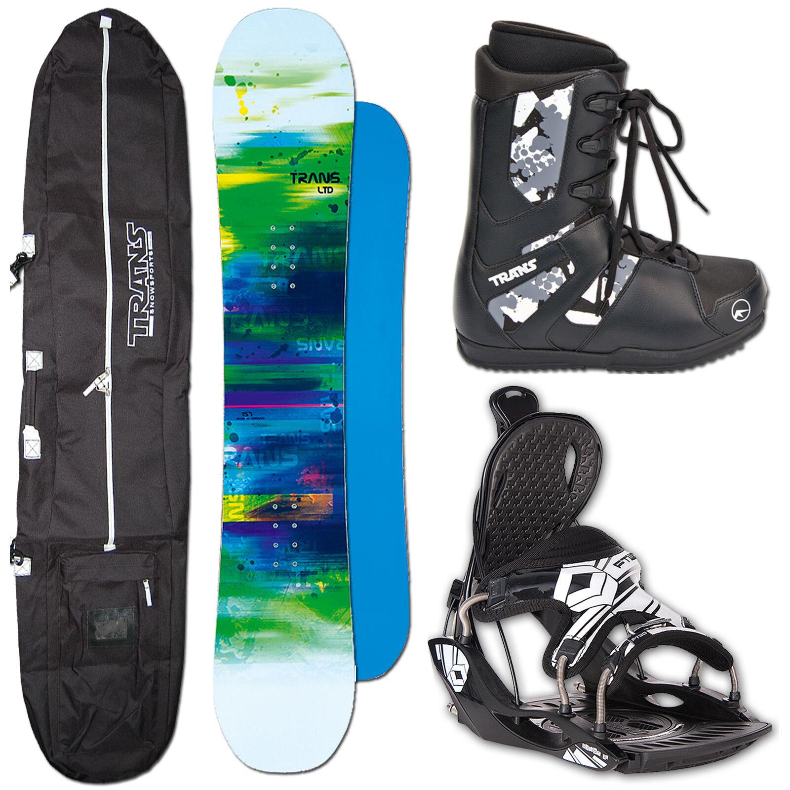 SNOWBOARD TRANS LTD WHITE 147 CM + FTWO PREMIUM BINDUNG M + BAG + BOOTS
