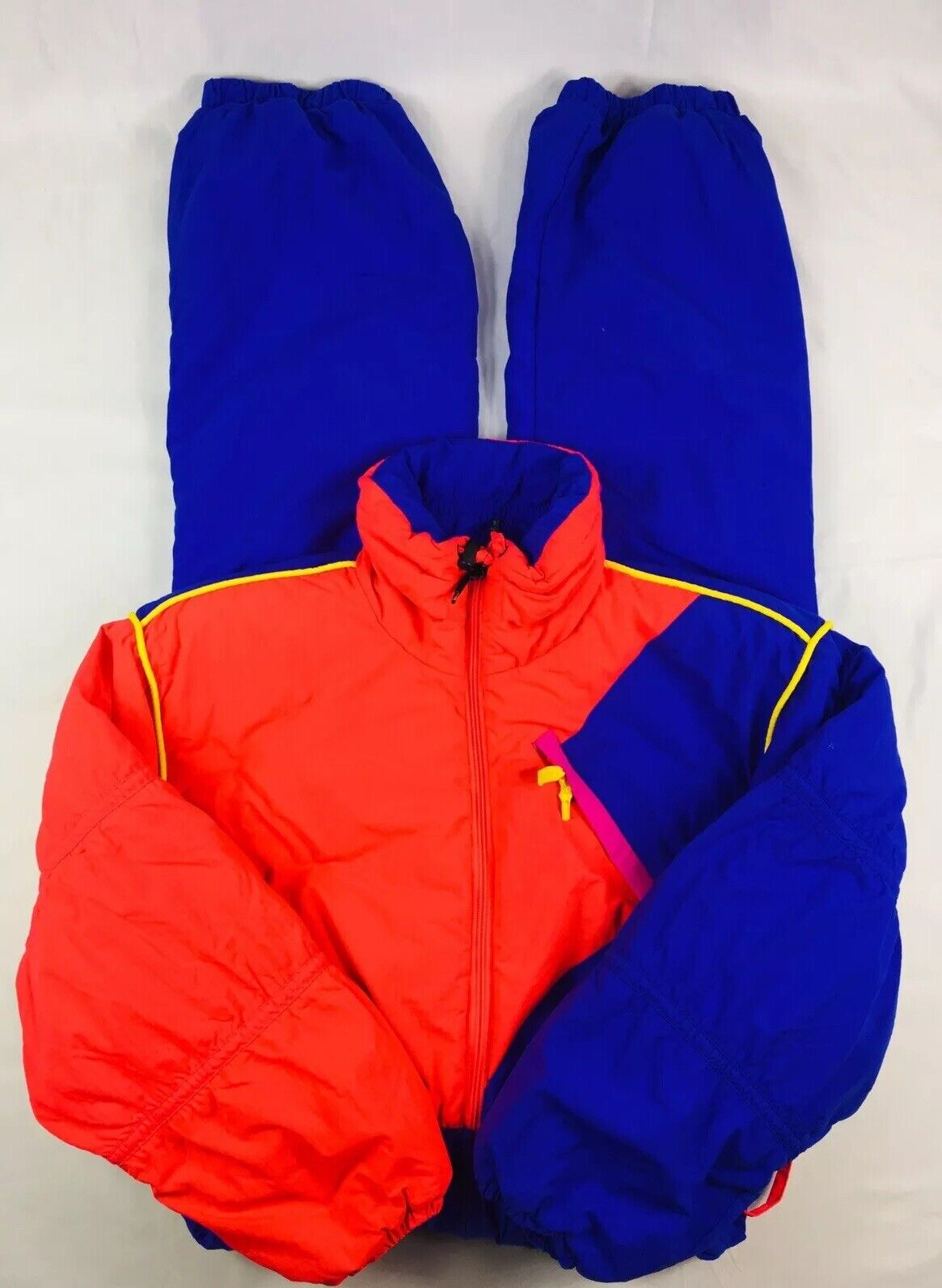 Obermeyer 1 Piece Snow Suit Vintage Retro colors Thinsulate Size Womens 14