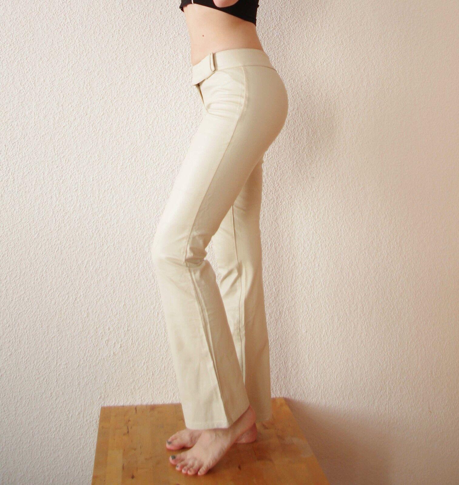 Cremewhitee Kunstlederhose Miss Sixty Gr. W29 bzw 38 Roxy