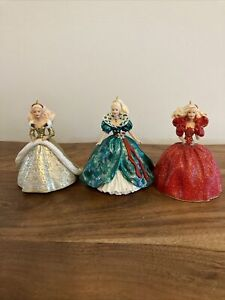 For-All-3-Holiday-Barbie-Hallmark-Keepsake-Ornaments-1993-1994-1995