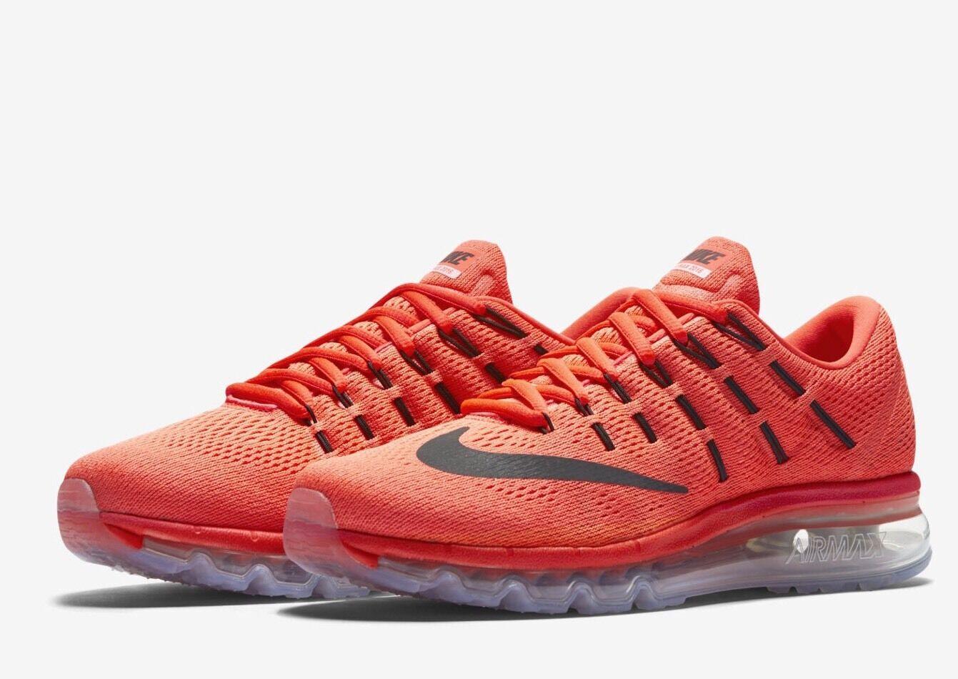 Nike Wmns Wmns Wmns Air Max 2016 Negro carmesí brillante Talla UK 4.5 EU 38 nos 7 806772-600  primera vez respuesta
