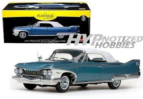 SUNSTAR 1 18 Platinum Collection 1960 Plymouth Fury Die Cast blu SS5412