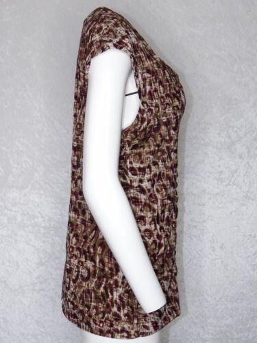 Entier beige maniche corte manica in marrone Camicetta Atelier Xl misto a corta Classiques seta O6dwpqZ