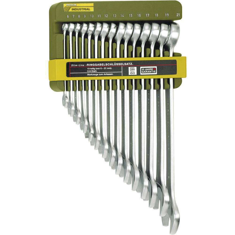 Ring-Maulschlüssel-Satz 15teilig 6 - 21 mm Proxxon Industrial 23821