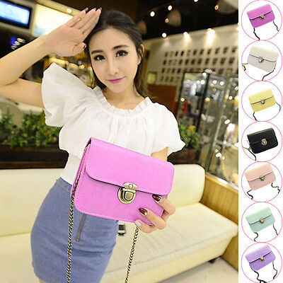 Cute Girls Bags Candy-Color Leather Mini Small Adjustable Shoulder Bag Handbag