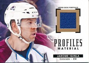 2015-16-Upper-Deck-Portfolio-PM-JI-Jarome-Iginla-Profiles-Materials-Jersey