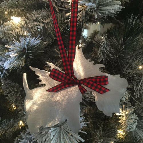 Christmas Metal Scottish Terrier Scottie Dog Ornament Dog Lovers gift