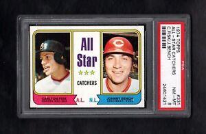 1974-TOPPS-331-ALL-STAR-CATCHERS-FISK-BENCH-PSA-8-NM-MT-CENTERED