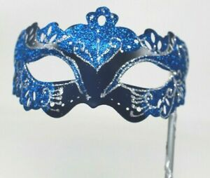 SILVER JEWELLED /& BUTTERFLY VENETIAN MASQUERADE PARTY MASKS LADIES MASK ON STICK