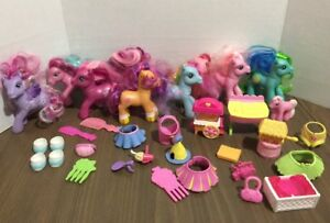 Huge Lot My Little Pony Lot Of Figures And Accessories Ponies Mlp Ebay