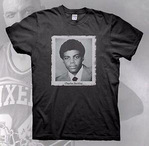 734e656c1 CHARLES BARKLEY T-Shirt Retro White Black Michael Jordan JTH Cement ...